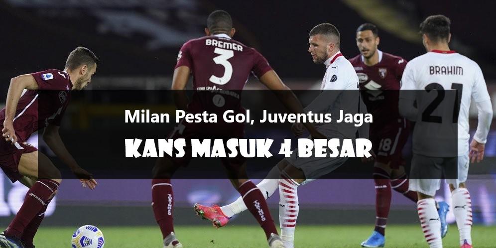Milan Pesta Gol, Juventus Jaga Kans Masuk 4 Besar